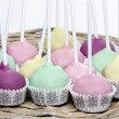 Colorful cake pops, birthday party. — Stock Photo