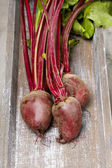 Beetroot on rustic wooden table — Stock Photo
