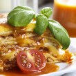 Stock Photo: Beef lasagna