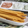Italian bread sticks — Stock Photo