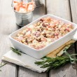 Pastwith seafood — Stock Photo #27597725