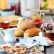 Stock Photo: Breakfast table. Selective focus