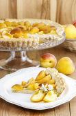Apricot pie — Stock Photo