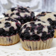 Stock Photo: Blueberry muffins. Party table