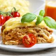 Lasagna, traditional italidish — Stock Photo #28762639