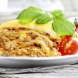 Lasagna, traditional italian dish — Stock Photo