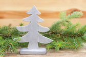 Traditional christmas tree decoration — Stock Photo