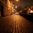 Krakow by night, old jewish quarter Kazimierz, Krakow, Poland — Stock Photo