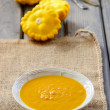 Stock Photo: Pumpkin creamy soup