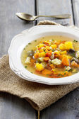 Minestrone, vegetable soup — Stock Photo