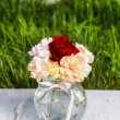 Bouquet of stunning colorful carnation flowers — Stock Photo