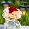 Bouquet of stunning colorful carnation flowers — Stock Photo #30007673