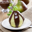 Pears with chocolate sauce — Stock Photo #30011201