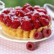 Stock Photo: Raspberry tart. Selective focus