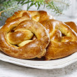 Christmas pretzel — Stock Photo