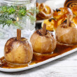 Caramel apple, christmas eve — Stock Photo
