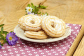 Stack of butter cookies. Homemade dessert — Stock fotografie