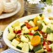 Fresh vegetable salad in white bowl — Stock Photo