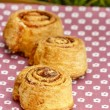 Cinnamon rolls, selective focus — Stock Photo