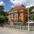 Historic city centre of Krynica Zdroj, famous XIX century Polish — Stock Photo