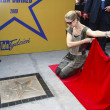 Celine Dion in Krakow where she was honored with the first star — Stock Photo