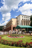 Historic city center of Krynica Zdroj, famous XIX century polish — Stock Photo
