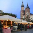 Stock Photo: Annual christmas fair at the Main Market Square. Krakow, Poland