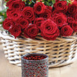 Basket of roses — Stock Photo #33209603