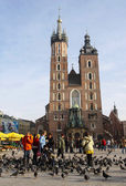 Mariacki church, Church of Our Lady Assumed into Heaven, a brick — Stock Photo