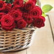 Basket of roses — Stock Photo #33210237