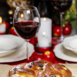 Traditional christmas bread served commonly in many countries — Stock Photo