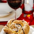 Festive braided bread — Stock Photo