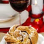Festive braided bread — Stock Photo