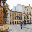 Historic city center of Krakow. Buildings around Mariacki Square — Stock Photo