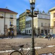 Historic city center of Krakow. XIX century tenements — Стоковая фотография