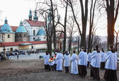 Traditional celebration of Easter Sunday. Procession — Stock Photo
