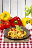 Risotto, popular italian dish. Selective focus — Stock Photo