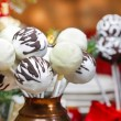 Chocolate cake pops in christmas setting — Stock Photo #38812855
