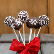 Chocolate cake pops in christmas setting — Stock Photo #38815281