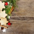 Christmas cookies on wooden background — Stock Photo #39069969