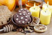 круглая шоколад печенье — Стоковое фото