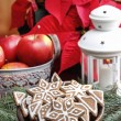 Bowl of gingerbread cookies. Christmas mood — Stock Photo #40114841