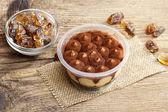 Tiramisu dessert on wooden table. Italian confectionery — Stock Photo