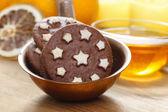 Round chocolate cookies — Stock Photo