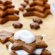 Preparing gingerbread christmas tree. Steps of making delicious — Stock Photo #40990365