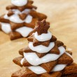 Preparing gingerbread christmas tree. Steps of making delicious — Stock Photo #40990545