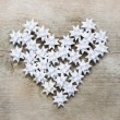Stock Photo: Heart made of paper stars