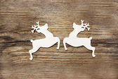Two wooden deers — Stock Photo