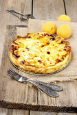 Top view of quiche lorraine — Stock Photo