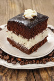 Black and white layer cake — Stock Photo